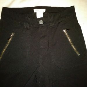Laura Ashley Classics black pants legging small